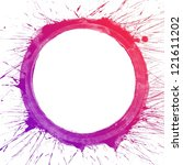 abstract colorful splash circle ... | Shutterstock . vector #121611202
