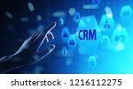 crm   customer relationship...   Shutterstock . vector #1216112275