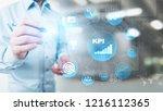 kpi   key performance indicator....   Shutterstock . vector #1216112365