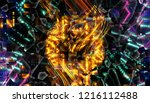 abstract golden illustration.... | Shutterstock . vector #1216112488
