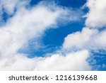 blue sky background and white... | Shutterstock . vector #1216139668