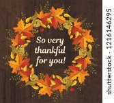 so very thankful for you.... | Shutterstock .eps vector #1216146295