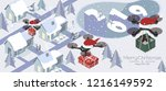 purchase and send a christmas... | Shutterstock .eps vector #1216149592