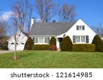 small white country french home | Shutterstock . vector #121614985