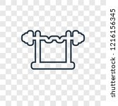 barbell concept vector linear... | Shutterstock .eps vector #1216156345
