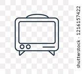 mass media vector outline icon... | Shutterstock .eps vector #1216157422