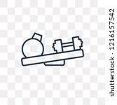 two dumbbells vector outline... | Shutterstock .eps vector #1216157542