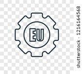 eu concept vector linear icon... | Shutterstock .eps vector #1216164568