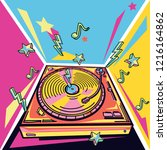 funky colorful music design  ...   Shutterstock .eps vector #1216164862