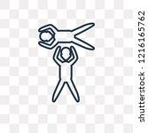 acrobatic vector outline icon...   Shutterstock .eps vector #1216165762
