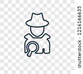 detective concept vector linear ...   Shutterstock .eps vector #1216166635