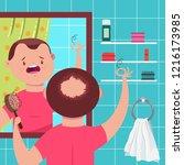 hair loss vector concept...   Shutterstock .eps vector #1216173985