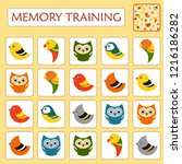 memory game for preschool... | Shutterstock .eps vector #1216186282