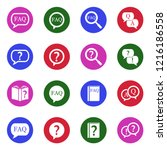 faq icons. white flat design in ... | Shutterstock .eps vector #1216186558