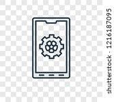 app concept vector linear icon...