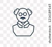 pension vector outline icon... | Shutterstock .eps vector #1216189165