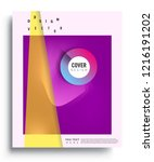 colorful geometric background ...   Shutterstock .eps vector #1216191202