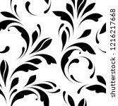 floral seamless pattern. swirls ... | Shutterstock .eps vector #1216217668