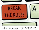 word writing text break the... | Shutterstock . vector #1216223152
