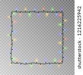 christmas lights square vector  ... | Shutterstock .eps vector #1216225942