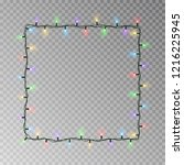 christmas lights square vector  ... | Shutterstock .eps vector #1216225945