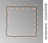 christmas lights square vector  ... | Shutterstock .eps vector #1216225948