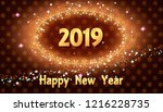 happy new year poster with... | Shutterstock .eps vector #1216228735