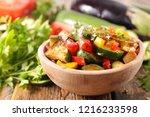 ratatouille in bowl   Shutterstock . vector #1216233598