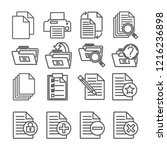linear text document icons.... | Shutterstock .eps vector #1216236898