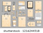 corporate identity with... | Shutterstock .eps vector #1216244518