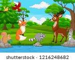 cartoon wild animal in the... | Shutterstock .eps vector #1216248682