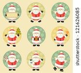 set of santa claus   Shutterstock .eps vector #121626085