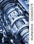 gearboxes and bearings in the... | Shutterstock . vector #1216263175