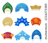 russian kokoshnik traditional... | Shutterstock .eps vector #1216272385