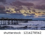 saltburn pier on 30th october... | Shutterstock . vector #1216278562