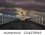 saltburn pier on 30th october... | Shutterstock . vector #1216278565