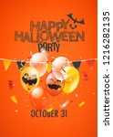 helloween party vector banner | Shutterstock .eps vector #1216282135