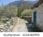 white houses of marpha in kali... | Shutterstock . vector #1216283905