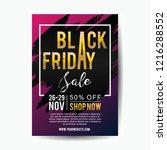 black friday vector poster...   Shutterstock .eps vector #1216288552