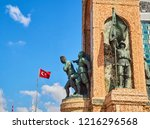 The Republic Monument to commemorate the formation of the Turkish Republic at Taksim Square, Beyoglu district. Istanbul, Turkey.