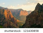 chisos mountains at sunrise at... | Shutterstock . vector #121630858