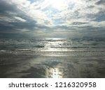 sea at sunset  gray tones  beach | Shutterstock . vector #1216320958