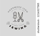vector icon and logo sewing and ... | Shutterstock .eps vector #1216327585