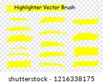 vector highlighter brush set.... | Shutterstock .eps vector #1216338175