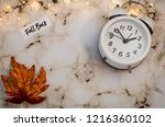 fall back daylight saving time... | Shutterstock . vector #1216360102