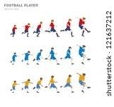 football player | Shutterstock .eps vector #121637212