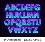 blue purple gradient neon... | Shutterstock .eps vector #1216373488
