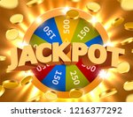 wheel of luck or fortune with... | Shutterstock .eps vector #1216377292