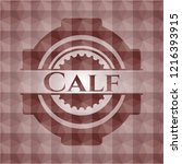 calf red emblem or badge with... | Shutterstock .eps vector #1216393915