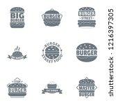 big burger logo set. simple set ...   Shutterstock . vector #1216397305